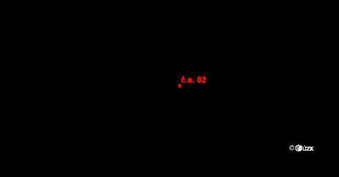 Kokory 62 na parcele st. 502 v KÚ Kokory, Katastrální mapa
