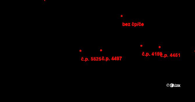 Jihlava 4497 na parcele st. 5379/3 v KÚ Jihlava, Katastrální mapa