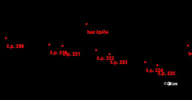 Poruba 222, Ostrava na parcele st. 59/1 v KÚ Poruba, Katastrální mapa