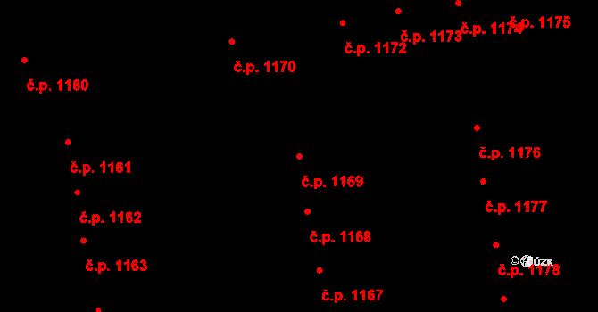 Svítkov 1169, Pardubice na parcele st. 1989 v KÚ Svítkov, Katastrální mapa