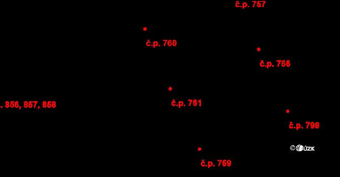 Vamberk 761 na parcele st. 1089 v KÚ Vamberk, Katastrální mapa