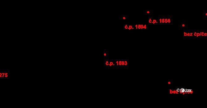 Aš 1593 na parcele st. 1734 v KÚ Aš, Katastrální mapa