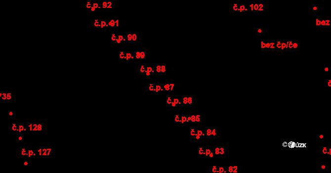 Staré Hory 86, Jihlava na parcele st. 420 v KÚ Staré Hory, Katastrální mapa
