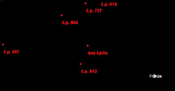 Kladno 38594471 na parcele st. 1719/2 v KÚ Motyčín, Katastrální mapa