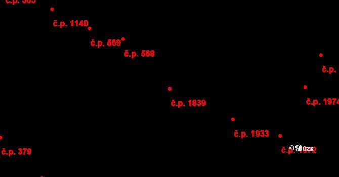 Předměstí 1839, Opava na parcele st. 376/3 v KÚ Opava-Předměstí, Katastrální mapa