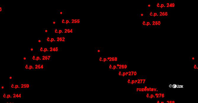Tašovice 268, Karlovy Vary na parcele st. 603 v KÚ Tašovice, Katastrální mapa