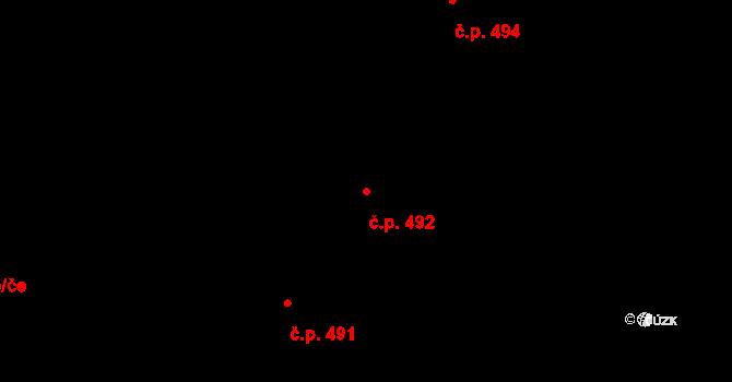 Žamberk 492 na parcele st. 2546 v KÚ Žamberk, Katastrální mapa