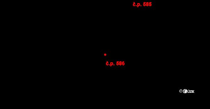 Litovel 586 na parcele st. 1545 v KÚ Litovel, Katastrální mapa