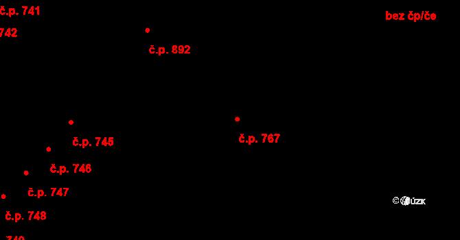 Skuteč 767 na parcele st. 1925 v KÚ Skuteč, Katastrální mapa