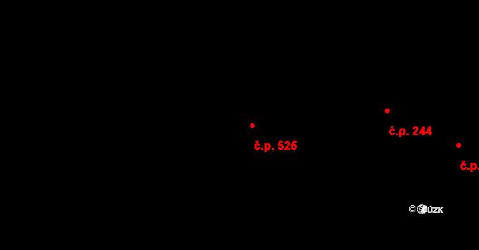 Metylovice 525 na parcele st. 190/1 v KÚ Metylovice, Katastrální mapa