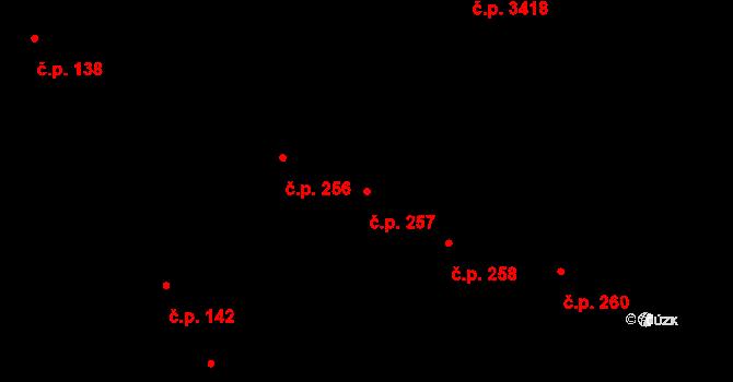 Černovice 257, Brno na parcele st. 57 v KÚ Černovice, Katastrální mapa