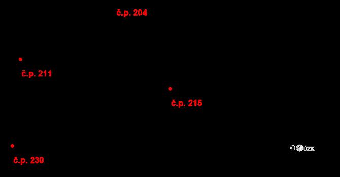 Dražkovice 215, Pardubice na parcele st. 625 v KÚ Dražkovice, Katastrální mapa