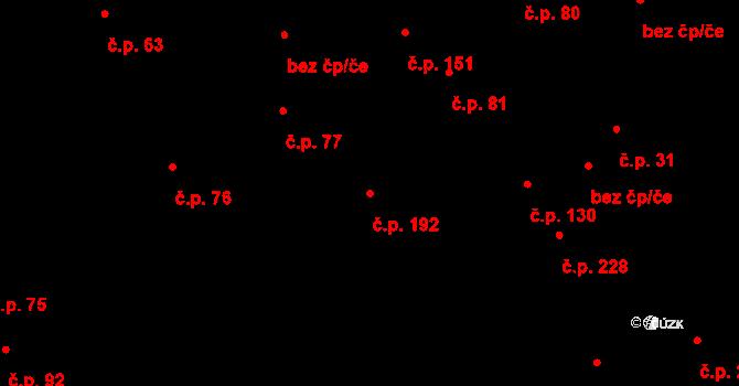 Lázně Kynžvart 192 na parcele st. 147/2 v KÚ Lázně Kynžvart, Katastrální mapa
