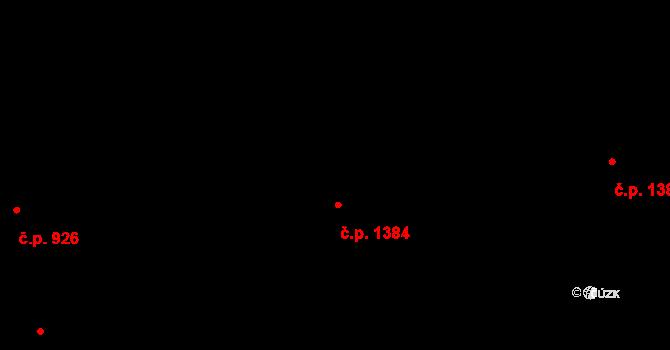 Stodůlky 1384, Praha na parcele st. 1569/98 v KÚ Stodůlky, Katastrální mapa