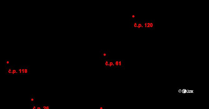 Dražkovice 61, Pardubice na parcele st. 81 v KÚ Dražkovice, Katastrální mapa