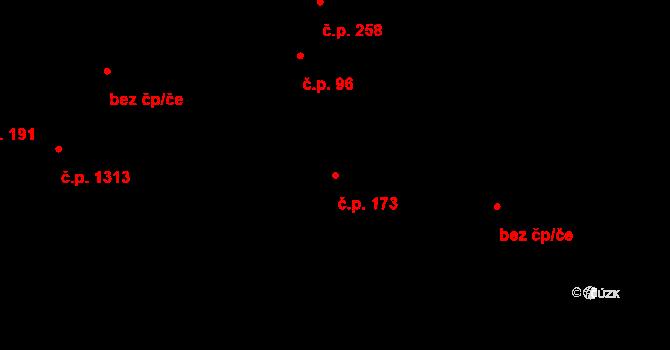 Malenovice 173, Zlín na parcele st. 288 v KÚ Malenovice u Zlína, Katastrální mapa