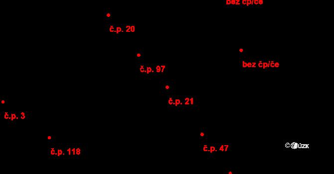 Vítovice 21, Rousínov na parcele st. 46/1 v KÚ Vítovice, Katastrální mapa