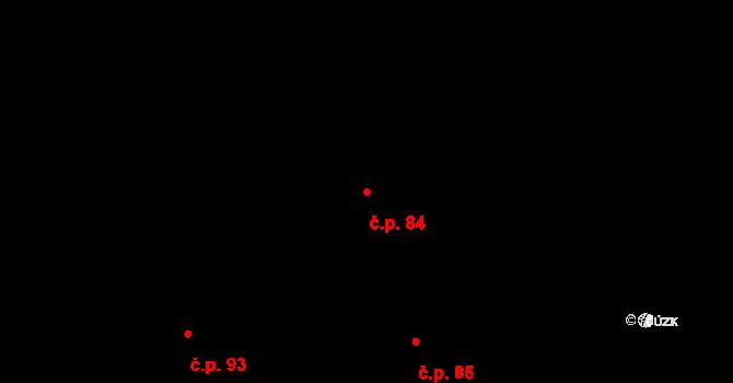 Poustka 84, Višňová na parcele st. 100 v KÚ Poustka u Frýdlantu, Katastrální mapa