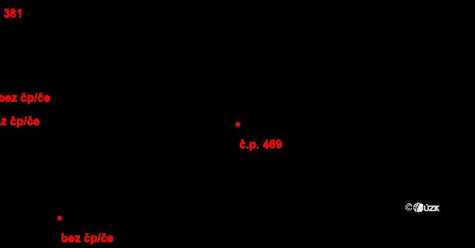 Pardubičky 469, Pardubice na parcele st. 429/14 v KÚ Pardubičky, Katastrální mapa