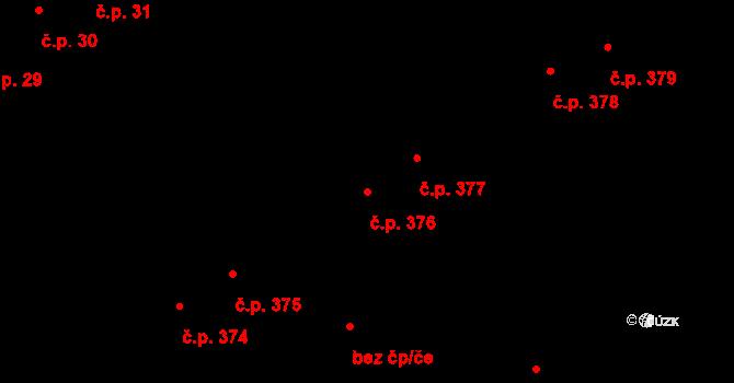 Vyškov-Město 376, Vyškov na parcele st. 2145 v KÚ Vyškov, Katastrální mapa