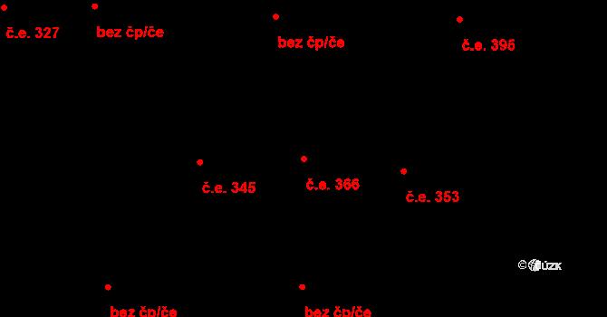 Hloubětín 366, Praha na parcele st. 1343/144 v KÚ Hloubětín, Katastrální mapa