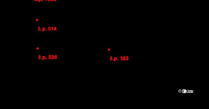 Aš 153 na parcele st. 651 v KÚ Aš, Katastrální mapa