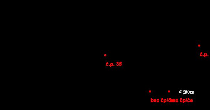 Svárkov 35, Letiny na parcele st. 59 v KÚ Svárkov, Katastrální mapa