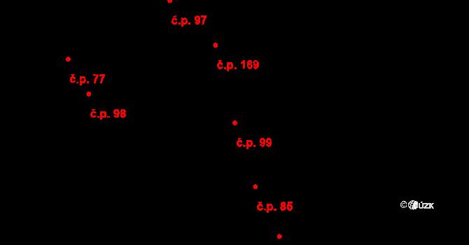 Uhřice 99 na parcele st. 149 v KÚ Uhřice u Kyjova, Katastrální mapa