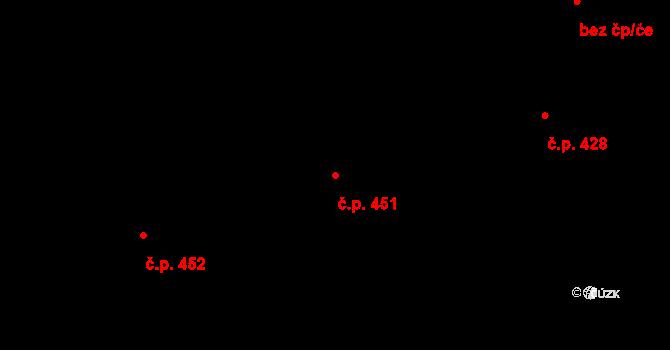 Frýdlant 451, Frýdlant nad Ostravicí na parcele st. 2402 v KÚ Frýdlant nad Ostravicí, Katastrální mapa
