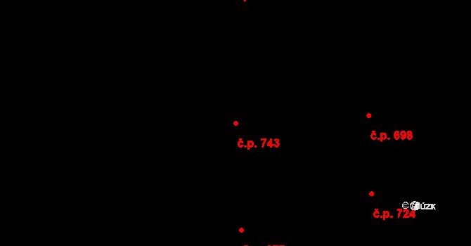 Stonava 743 na parcele st. 353 v KÚ Stonava, Katastrální mapa