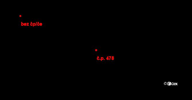 Vršovice 478, Praha na parcele st. 1201/1 v KÚ Vršovice, Katastrální mapa