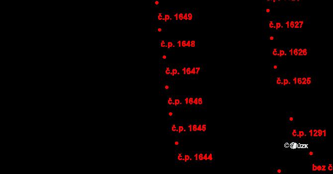 Choceň 1646 na parcele st. 2600 v KÚ Choceň, Katastrální mapa