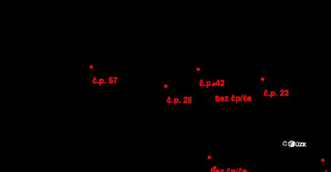 Velká Čermná 25, Čermná nad Orlicí na parcele st. 23/1 v KÚ Velká Čermná nad Orlicí, Katastrální mapa
