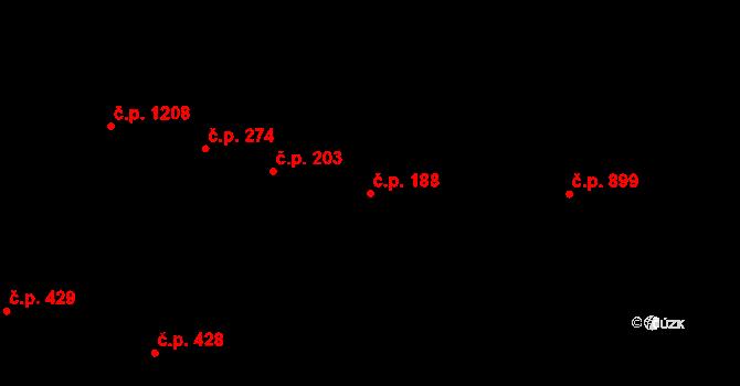 Nýřany 188 na parcele st. 920 v KÚ Nýřany, Katastrální mapa