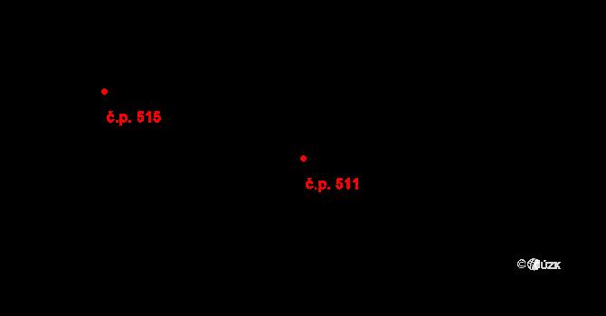 Lískovec 511, Frýdek-Místek na parcele st. 4455/40 v KÚ Lískovec u Frýdku-Místku, Katastrální mapa