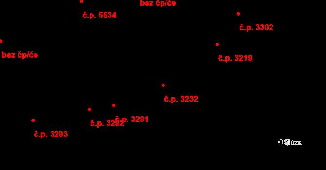 Zlín 3232 na parcele st. 3639 v KÚ Zlín, Katastrální mapa