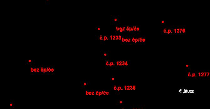 Šumperk 1234 na parcele st. 720/2 v KÚ Šumperk, Katastrální mapa