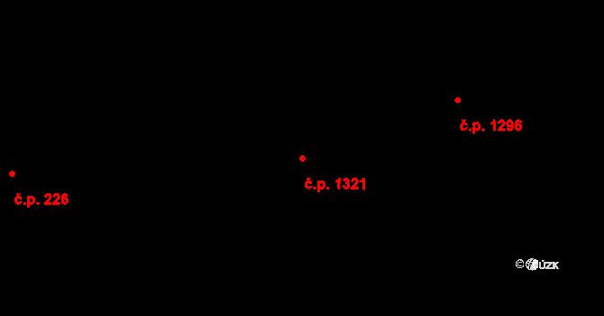 Liberec XIV-Ruprechtice 1321, Liberec na parcele st. 856/5 v KÚ Ruprechtice, Katastrální mapa