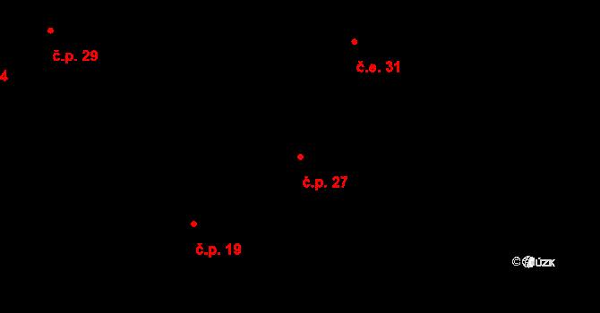 Dolní Bezděkov 27, Bratronice na parcele st. 34/4 v KÚ Dolní Bezděkov u Kladna, Katastrální mapa