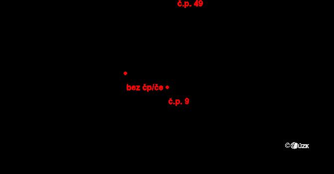 Koruna 9 na parcele st. 225/1 v KÚ Koruna, Katastrální mapa