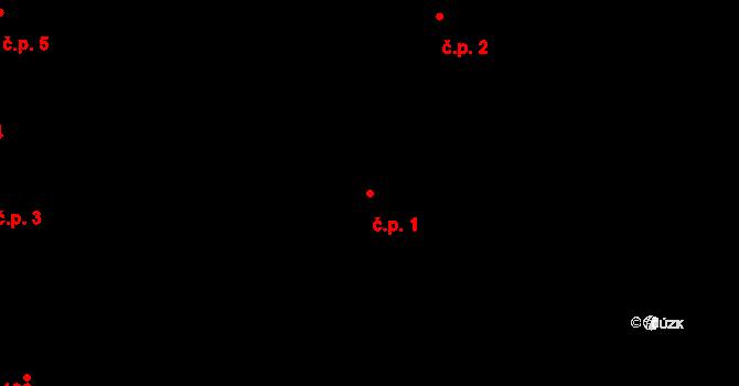 České Budějovice 1 1, České Budějovice na parcele st. 1/1 v KÚ České Budějovice 1, Katastrální mapa
