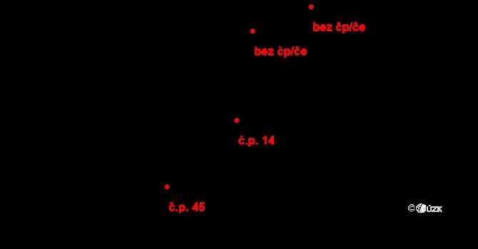 Buková Lhota 14, Benešov na parcele st. 231 v KÚ Úročnice, Katastrální mapa