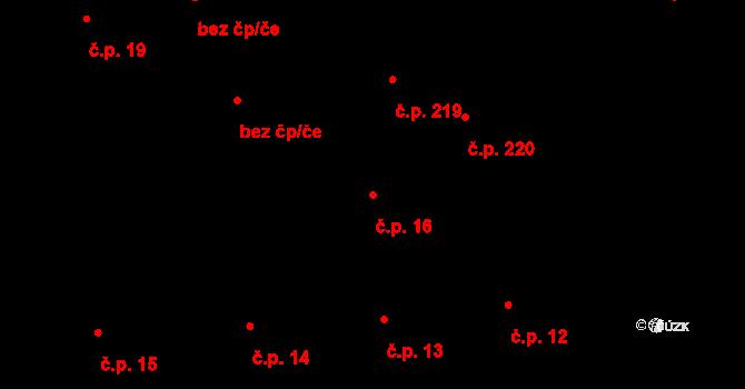 Slavonice 16 na parcele st. 388/1 v KÚ Slavonice, Katastrální mapa