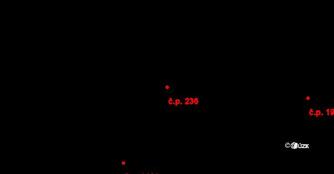 Milovice 236 na parcele st. 156 v KÚ Milovice nad Labem, Katastrální mapa