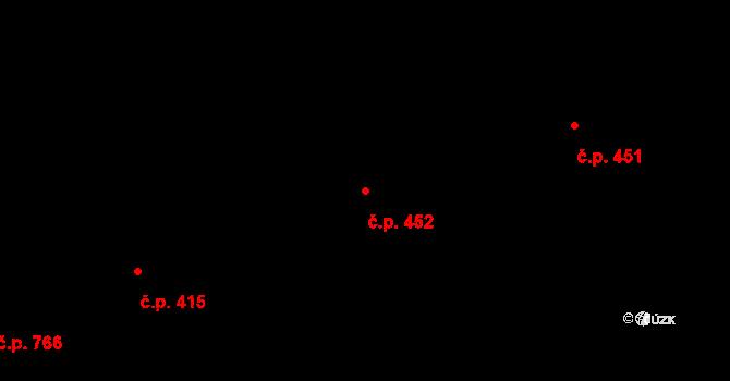 Frýdlant 452, Frýdlant nad Ostravicí na parcele st. 2405 v KÚ Frýdlant nad Ostravicí, Katastrální mapa