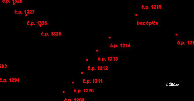 Dejvice 1213, Praha na parcele st. 1828 v KÚ Dejvice, Katastrální mapa