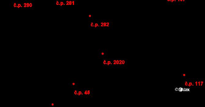 Český Těšín 2020 na parcele st. 72/1 v KÚ Český Těšín, Katastrální mapa