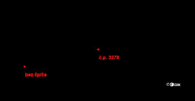 Kročehlavy 3278, Kladno na parcele st. 2867/17 v KÚ Kročehlavy, Katastrální mapa