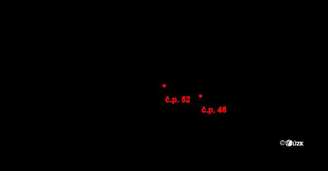 Bylany 52 na parcele st. 54 v KÚ Bylany, Katastrální mapa