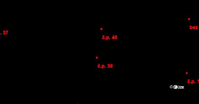 Lhota 38, Plzeň na parcele st. 75/1 v KÚ Lhota u Dobřan, Katastrální mapa